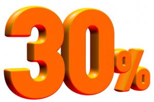 Spar 30 % på bøger